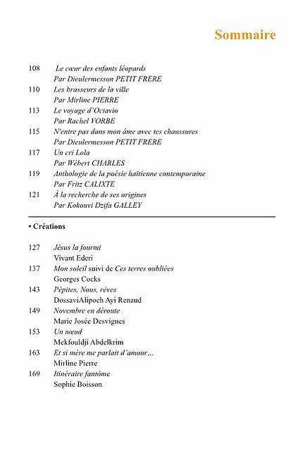 sommaire legs et littérature n°7 p2